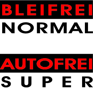 Postkarte Bleifrei normal - autofrei super